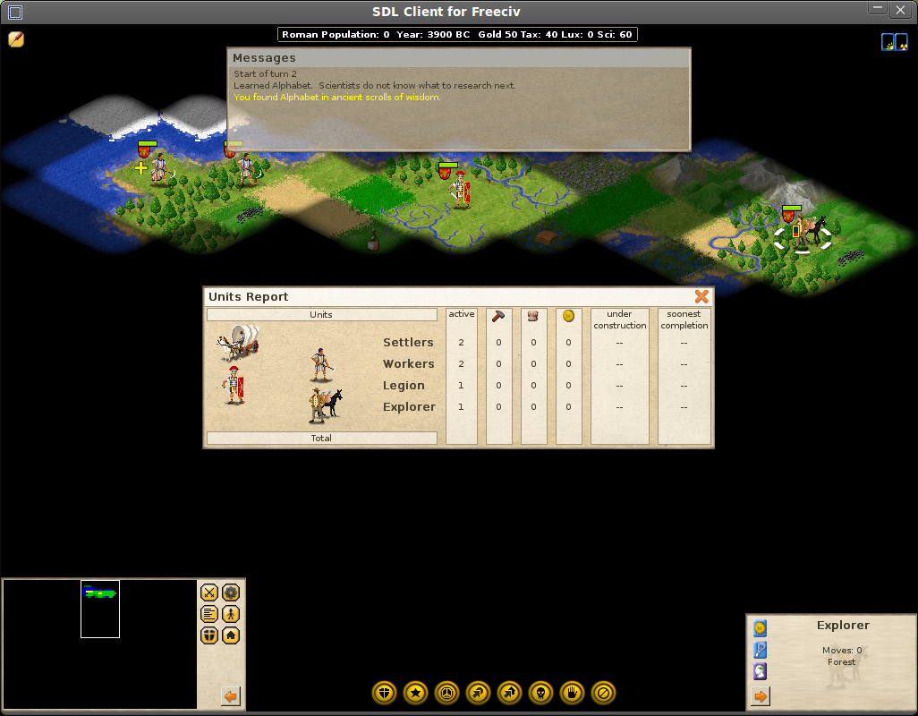 TuxArena Blog: Two Free Linux Civilization-Like Games