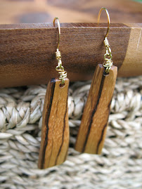 Exotic Zebrawood Earrings