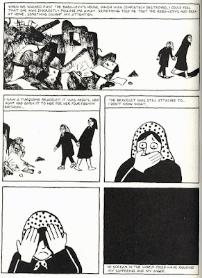 persepolis confronting the limits of expression and  in this sequence marji views the total destruction precipitated by the bombing and in a shocking reminder of the life that has so gruesomely perished