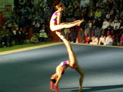 Acrosport, gimnastas rusas en cordoba