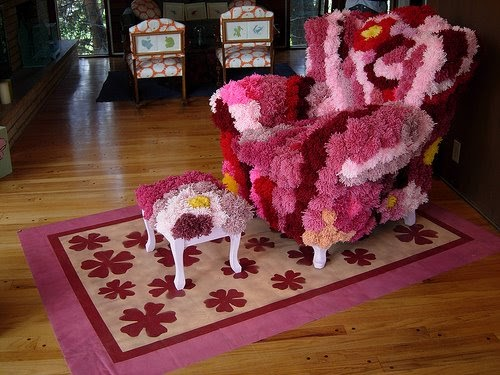 Amy Rice Art The Infamous Fuzzy Ball Chair