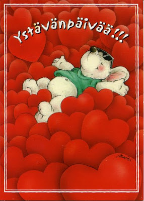 An Arctic Rainbow of Colour...: Hyvää Ystävänpäivää! - Happy Friend's Day! - Valentine's Day!