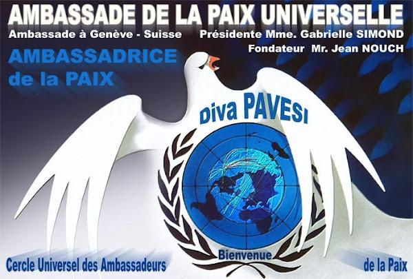 Diploma Embaixadora Universal da Paz