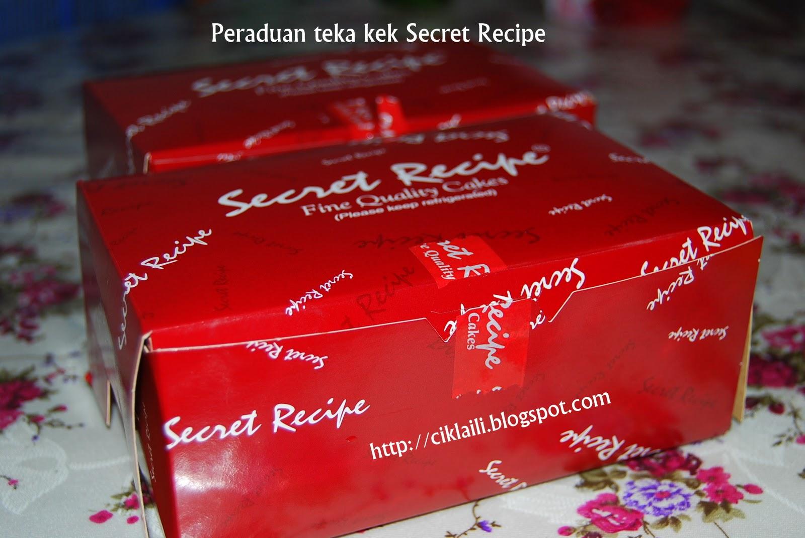 Peraduan Teka Kek Secret Recipe Ciklaili