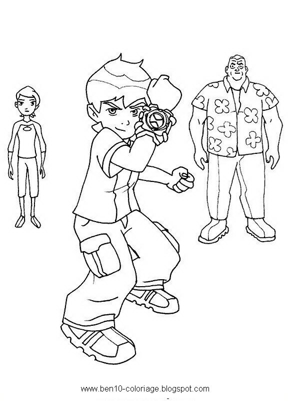 Ben 10 Colorer Coloriage Dessin Color For Childers Free Drowing