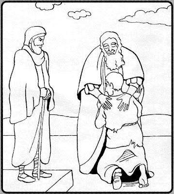 Prodigal Son Coloring Pages Preschool - Coloring Home | 400x359