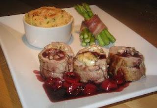 Goat Cheese Stuffed Pork Tenderloin with Red Wine Balsamic Cherry ...