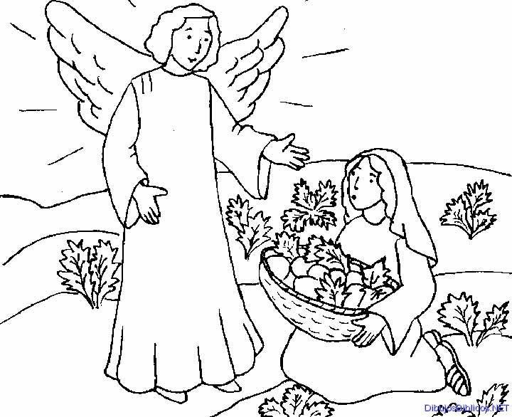 Dibujos De La Virgen Maria Para Colorear E Imprimir