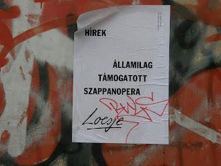 szappanopera, állami támogatás, Jóban-rosszban, belváros, Budapest, loesje, loesje.org, plakát, V. kerület