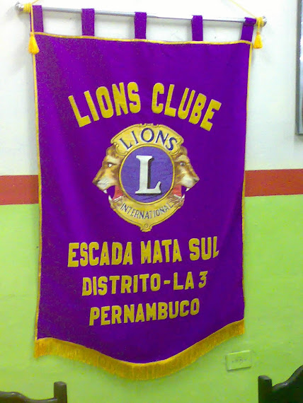 Estandarte do Lions Club Escada Mata Sul