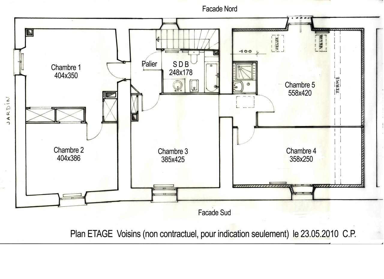 Maison mouroux 77 plan d 39 etage de l 39 habitation for Plan maison d habitation