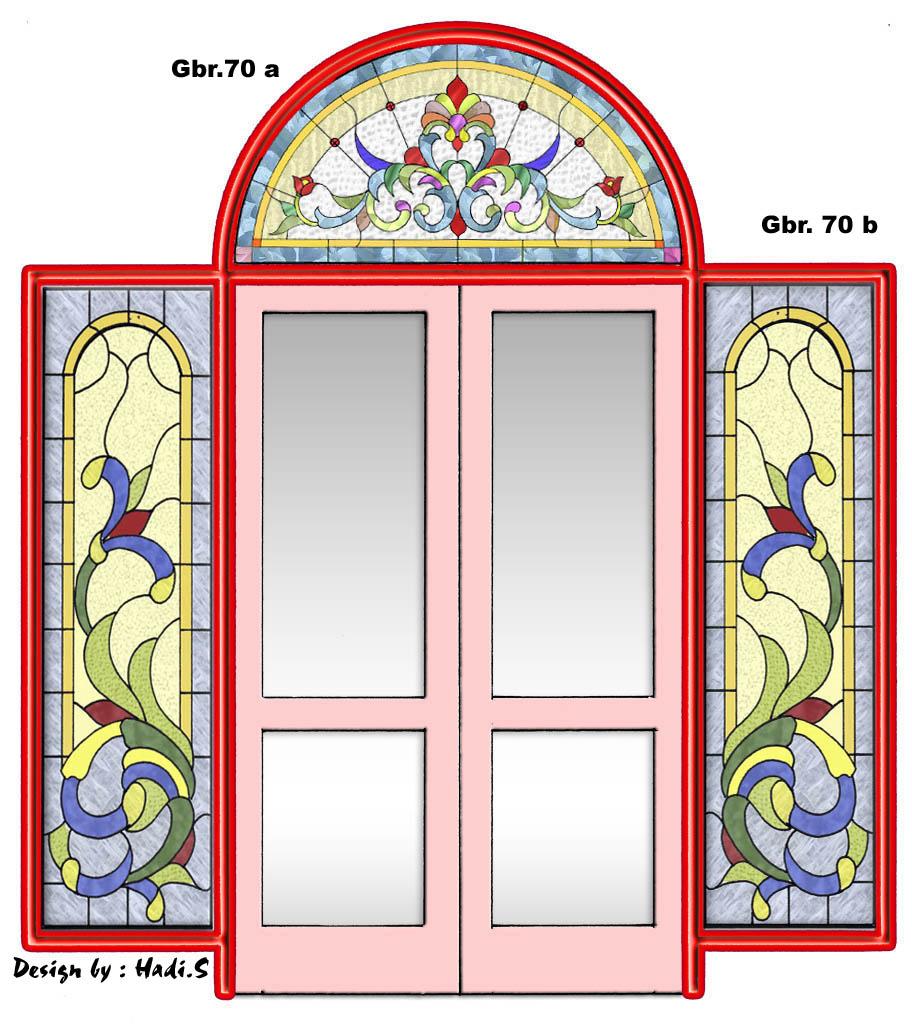 kaca patri atau kaca stained