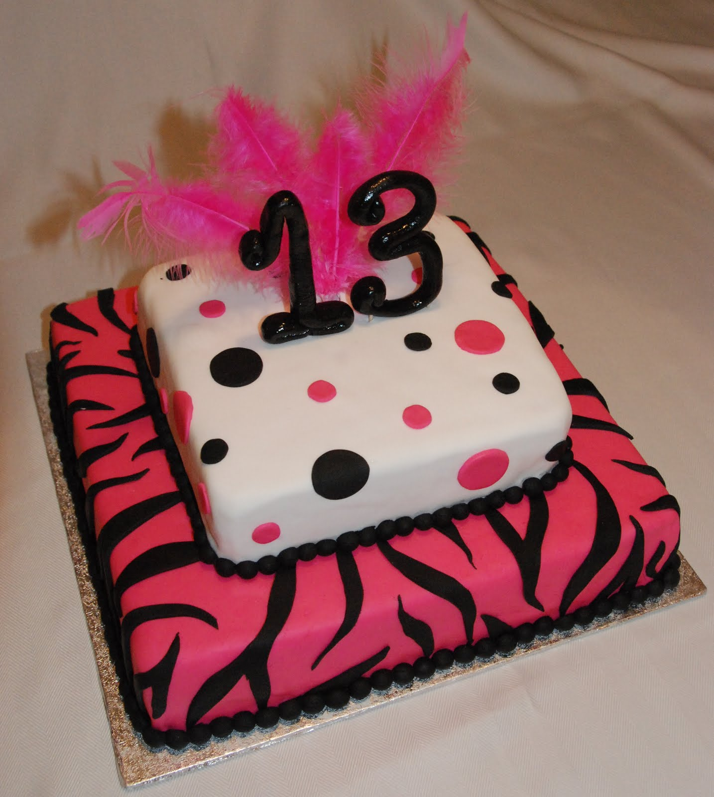 Cake Creations By Trish: 13th Birthday Cake