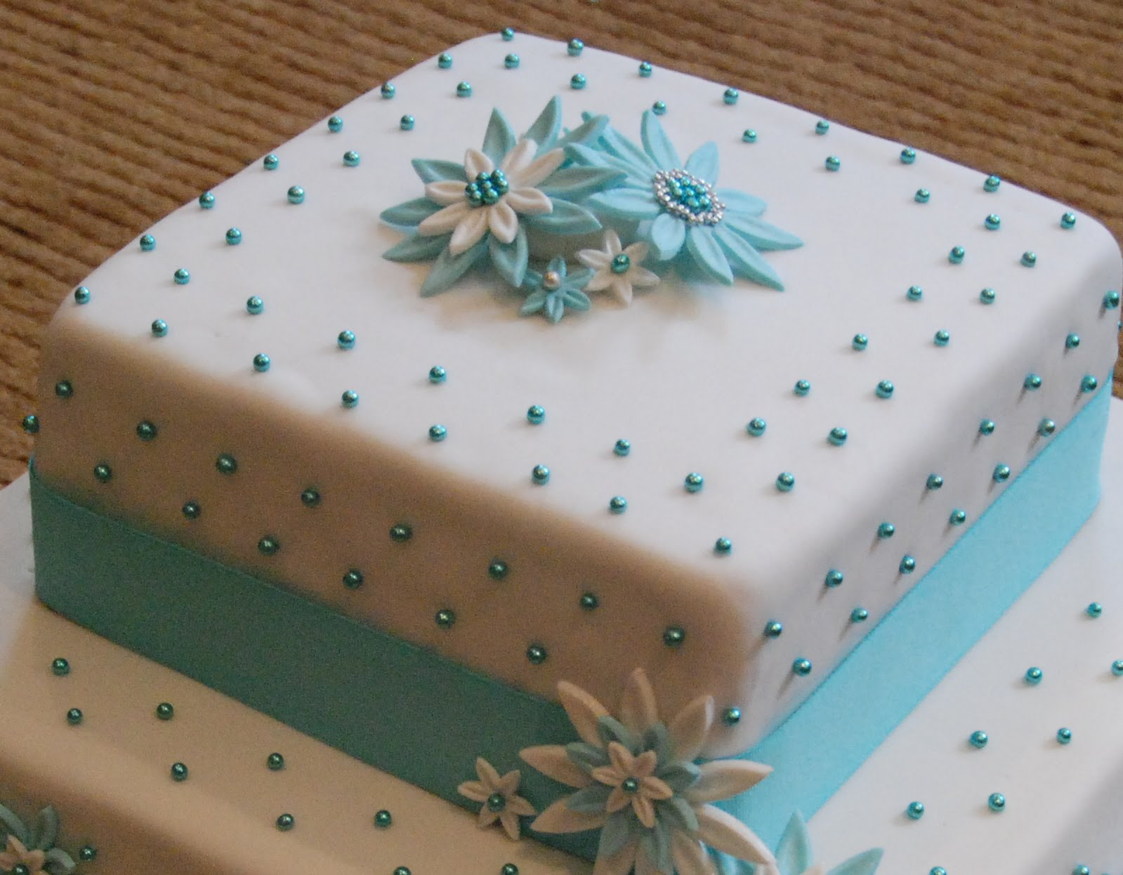 Petite Productions: On Glamour & Grace Weddings: Mariam's ...  Tiffany Bridal Shower Cakes