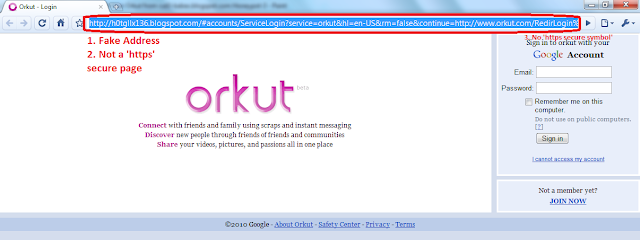 How to Prevent Your Orkut from Attack - Fake Orkut Page