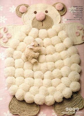 Manualidades con pompones de lana lodijoella for Alfombras de pompones infantiles