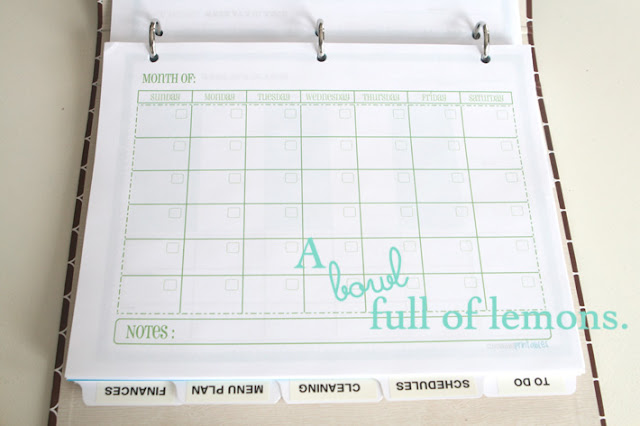 How to make a home management binder A Bowl Full of Lemons - printable book report forms
