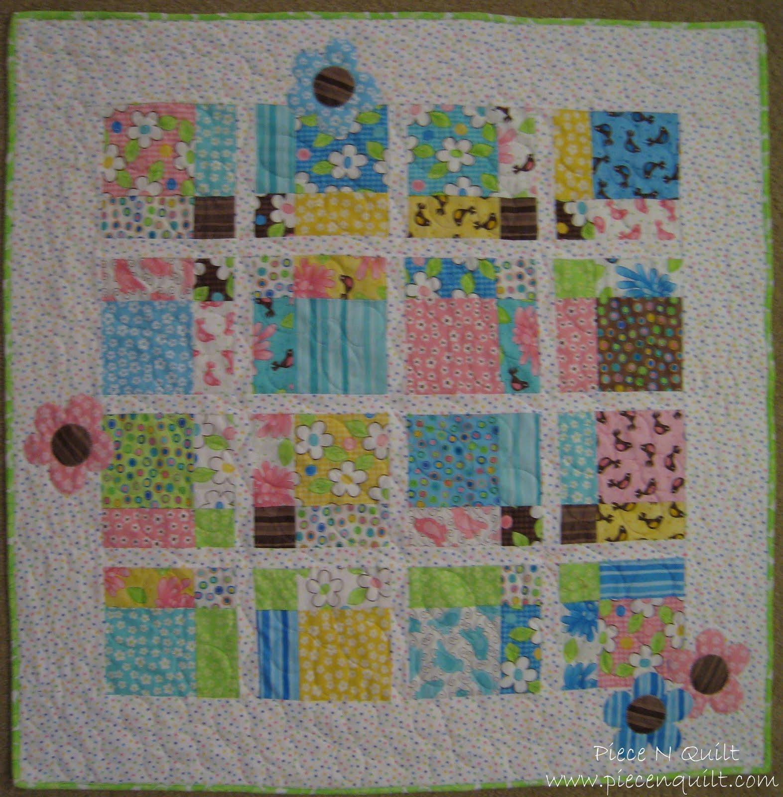 Piece N Quilt: 9 Birdie Baby Quilt Tutorial