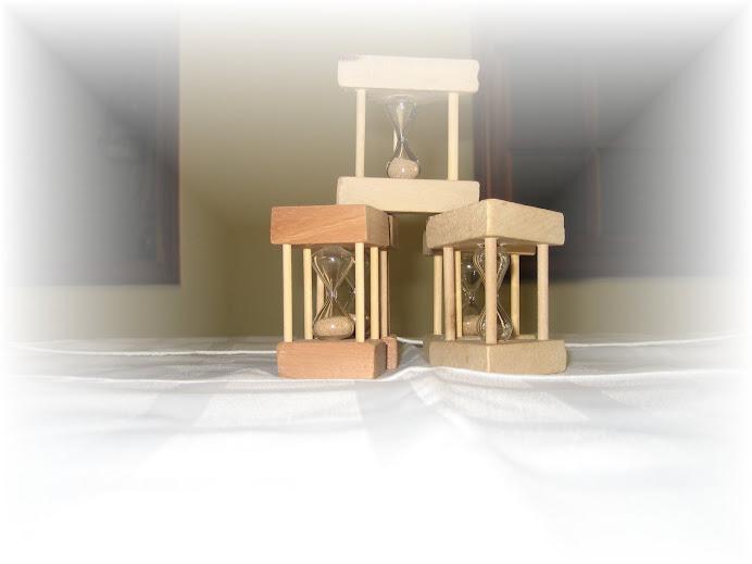 relojes de arena en miniatura