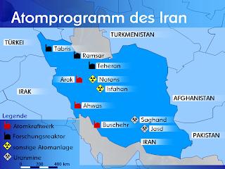 Iran's nuclear program map
