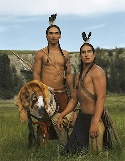 Zahn McClarnon and Michael Spears. (Into the West)