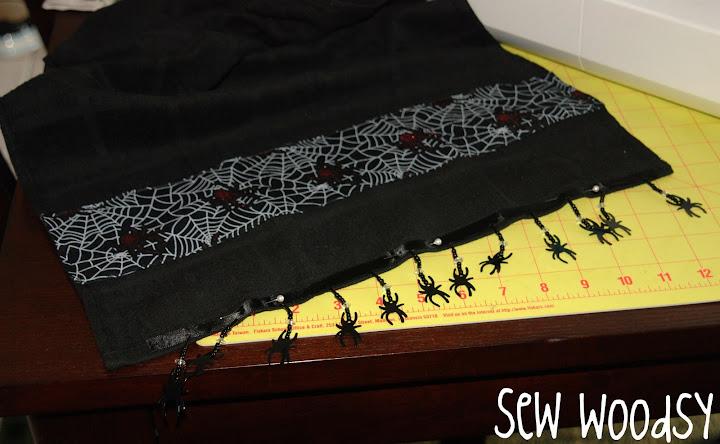 Mini Tutorial Spider Dish Towel Sew Woodsy