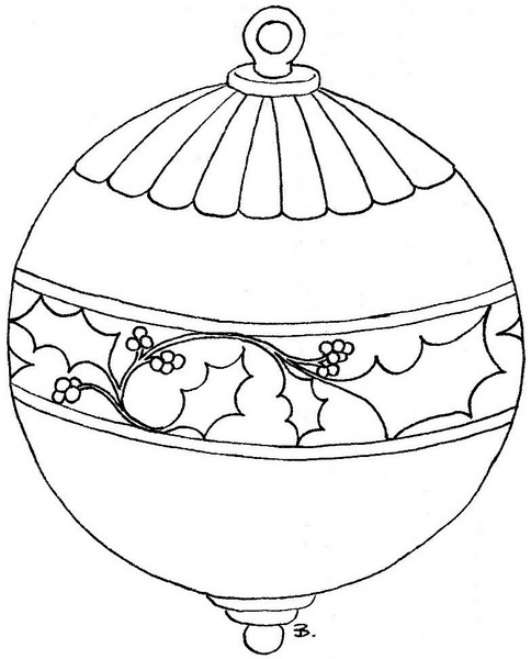 coloring pages christmas baubles clip - photo#4