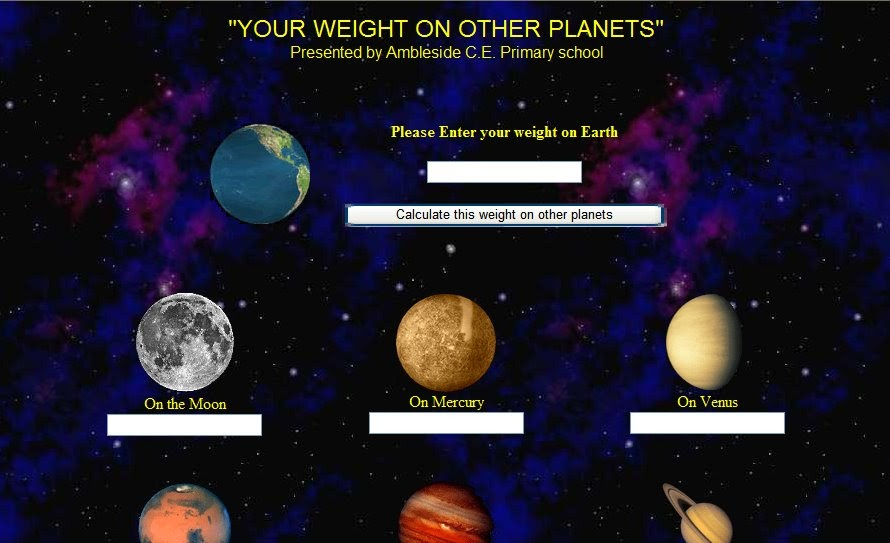 FUN ENGLISH POINT: Your weight on other planets