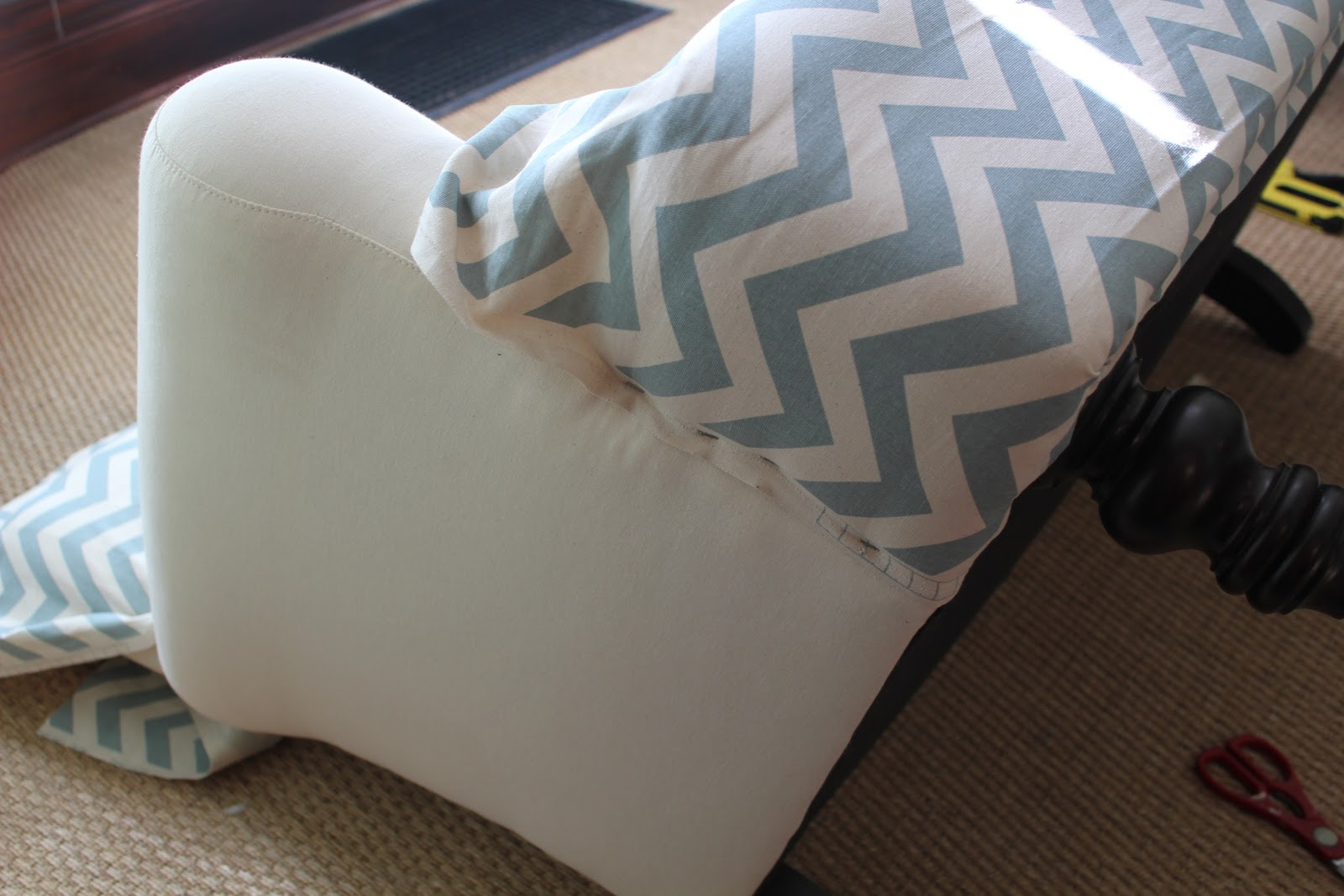 Shabby Chic Sofa Bed Uk How To Make A T Cushion Slipcover Back On Festive Road Makeover From