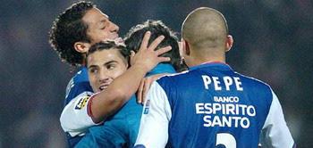 Equipa do Fc Porto unida