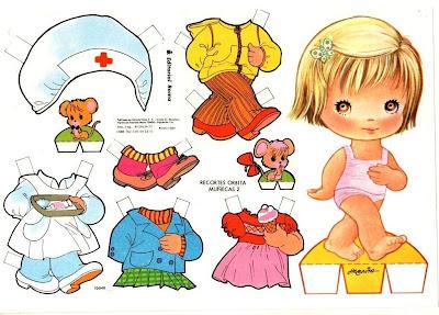 Bonecas de Papel - Paper Dolls - Muñecas Recortable