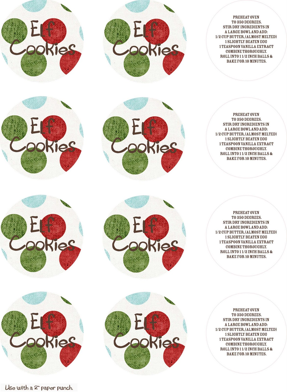Two Crazy Cupcakes Elf Your Neighbor Free Printables