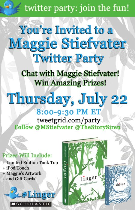 Twitter Party with MAGGIE STIEFVATER is tonight!!!