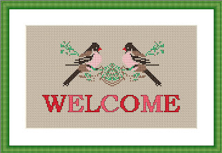 Free Birds Cross Stitch Pattern