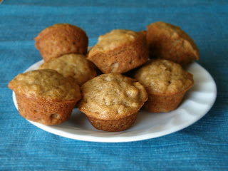 Dinner's On Me!: Banana Nut Mini Muffins