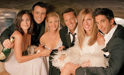Together again: Courteney Cox, Matt LeBlanc, Lisa Kudrow, Matthew Perry, Jennifer Aniston and David Schwimmer will star in the Friends movie