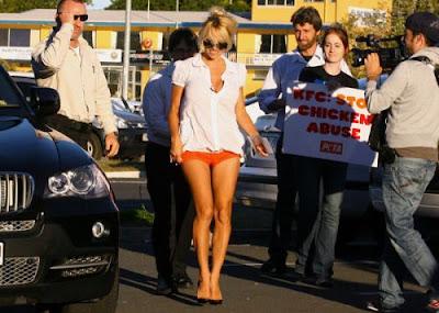 PETA Pamela Anderson KFC Protest Australia