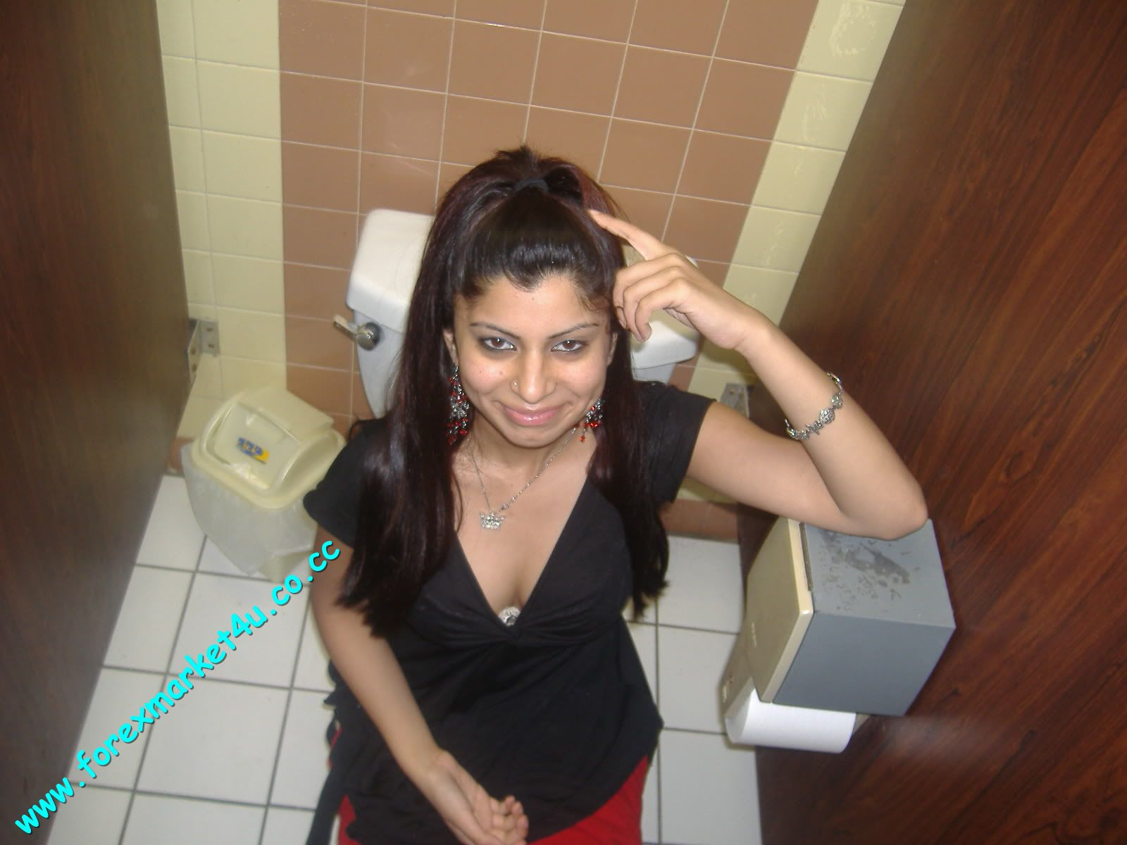 Indian Girl In Bath Room
