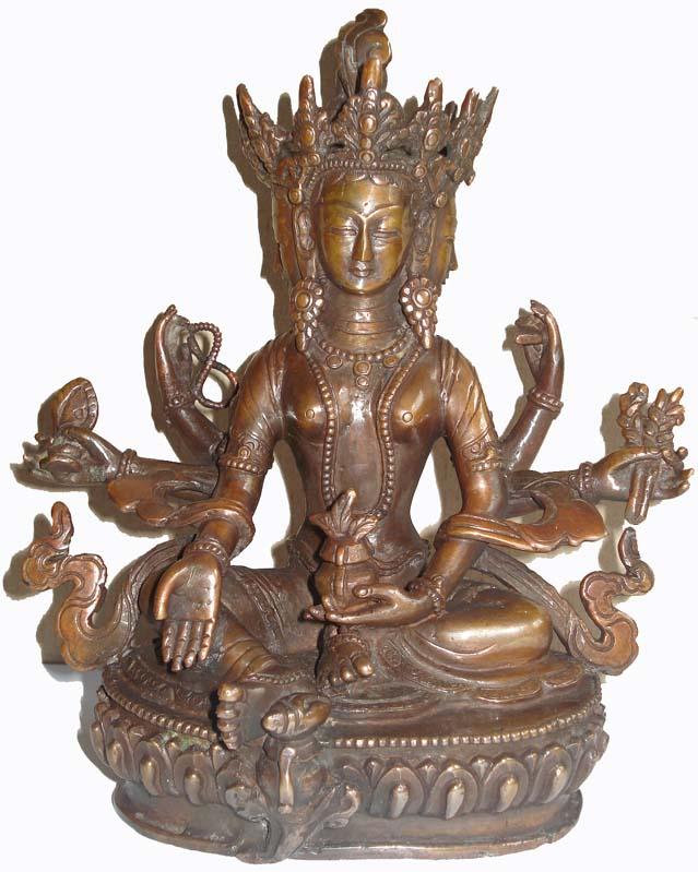 Buddhist goddess Vasundhara