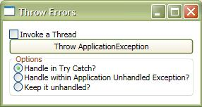 DOT NET TRICKS: Unhandled Exception Handler For WPF Applications