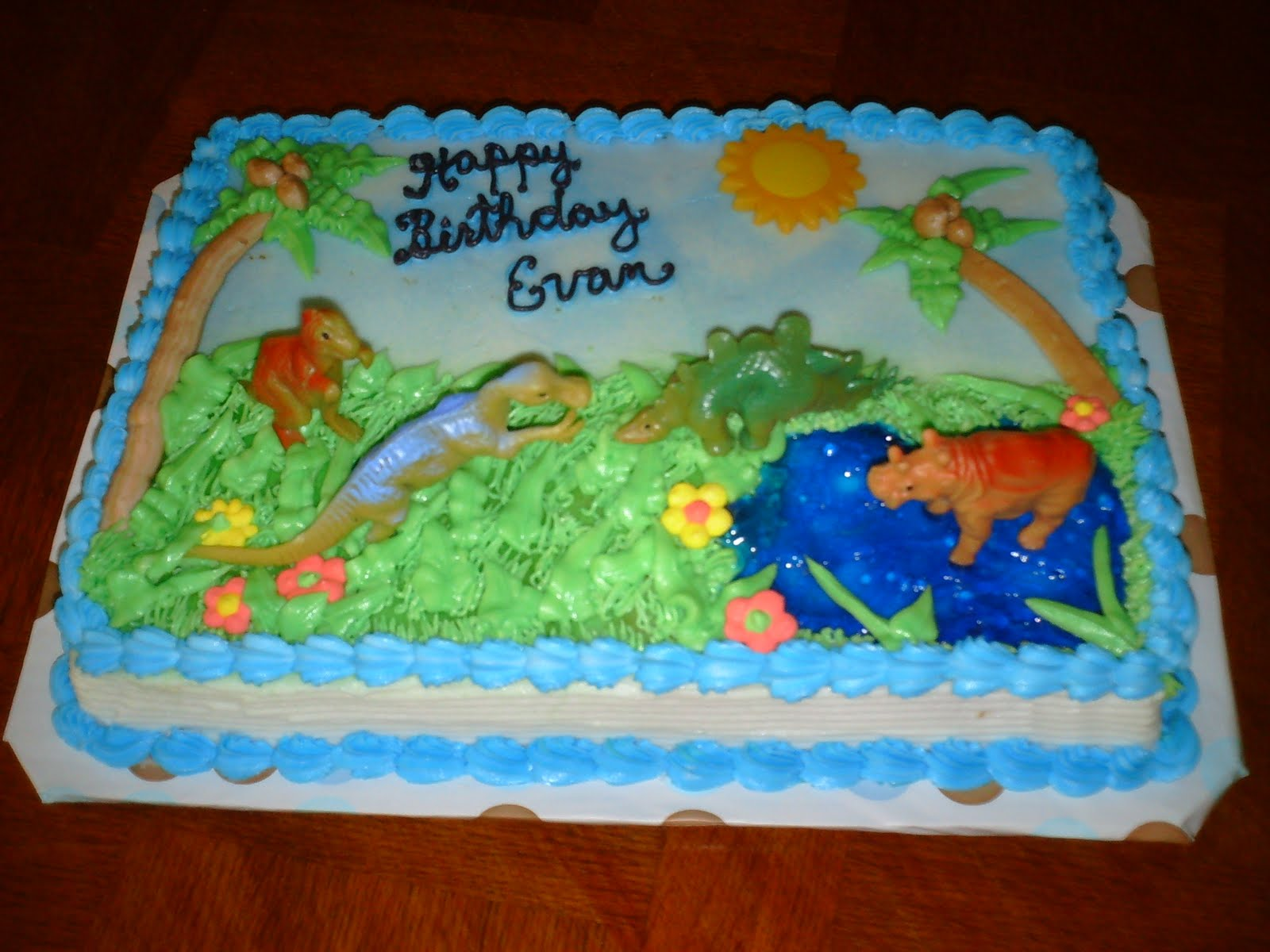 This Dinosaur Theme Cake Is For A Six Year Old Boy He Wanted To Celebrate His Birthday With Class Mates On