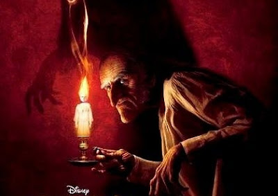 A Christmas Carol Movie, directed by Robert Zemeckis and starring Jim Carrey as Scrooge