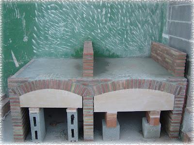Mis trabajos mejores construcci n de una barbacoa y paellero - Barbacoa de obra casera ...