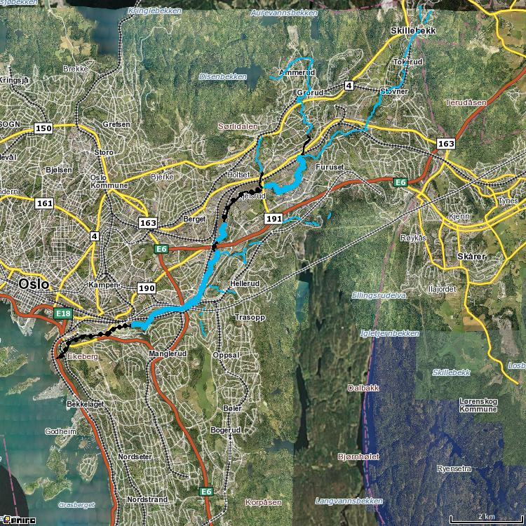 kart alnaelva Alnaelva: Alnaelva Oslo kart alnaelva