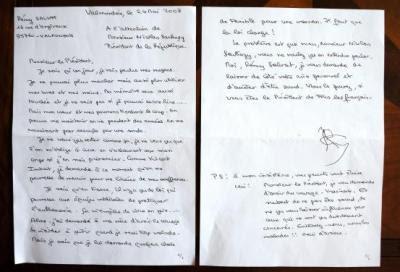 Rémy Salvats brev til præsidenten