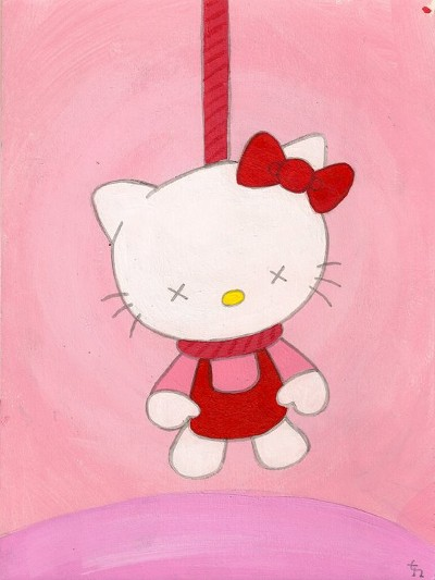Hang in There - Hello Kitty selvmord hængning - 'Hæng i'