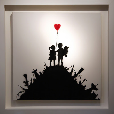 Kids on Guns by Banksy - Make love not war