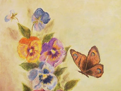 Pansy and butterfly