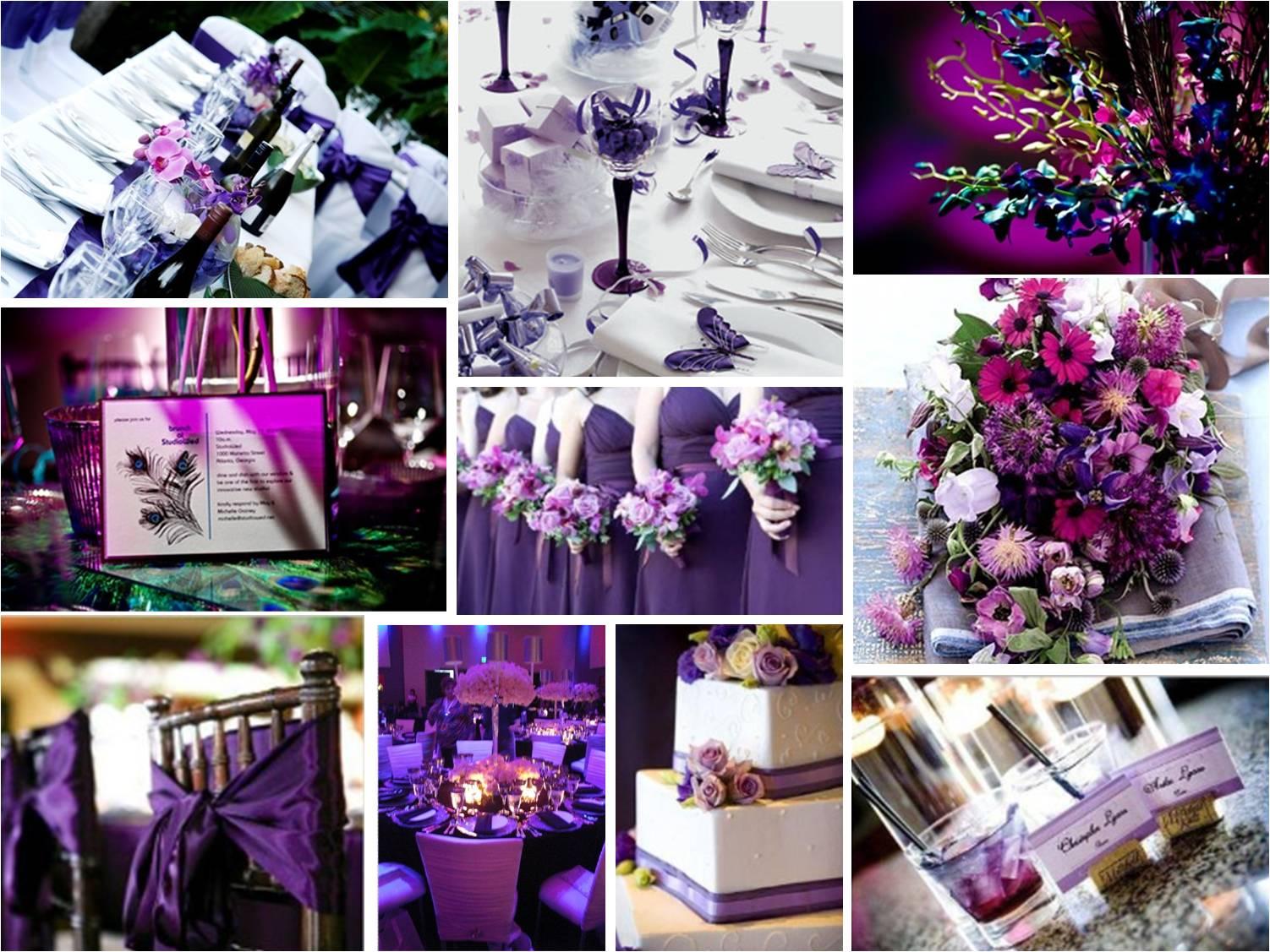 purple wedding theme purple and silver wedding