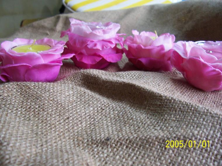 Rosas porta velas